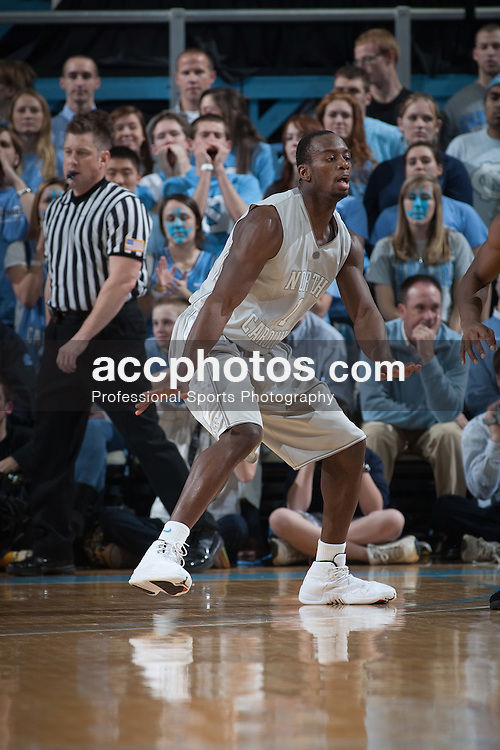 24 February 2010: North Carolina Tar Heels guard Marcus Ginyard (1) during a 77-67 loss to the Florida State Seminoles at the Dean E. Smith Center in Chapel Hill, NC.
