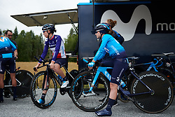 Lourdes Oyarbide (ESP) and Aude Biannic (FRA) at Ladies Tour of Norway 2018 Team Time Trial, a 24 km team time trial from Aremark to Halden, Norway on August 16, 2018. Photo by Sean Robinson/velofocus.com