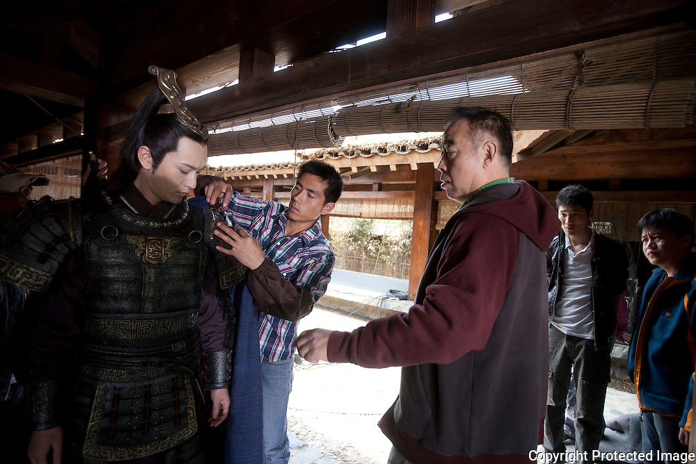 Still Images and behind the scenes for the film Sacrifice-Orphan of Zhao (2010). A Chen Kaige film.