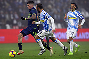 Foto LaPresse/Filippo Rubin<br /> 26/12/2018 Ferrara (Italia)<br /> Sport Calcio<br /> Spal - Udinese - Campionato di calcio Serie A 2018/2019 - Stadio &quot;Paolo Mazza&quot;<br /> Nella foto: RODRIGO DE PAUL (UDINESE) VS PASQUALE SCHIATTARELLA (SPAL)<br /> <br /> Photo LaPresse/Filippo Rubin<br /> December 26, 2018 Ferrara (Italy)<br /> Sport Soccer<br /> Spal vs Udinese - Italian Football Championship League A 2018/2019 - &quot;Paolo Mazza&quot; Stadium <br /> In the pic: RODRIGO DE PAUL (UDINESE) VS PASQUALE SCHIATTARELLA (SPAL)