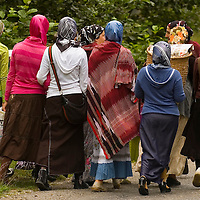 Groupe of Turkish women in north east Turkey