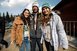 Former world ski jump champion Primoz Peterka of Slovenia and fans during the Ski Flying Individual at Day 2 of FIS World Cup Ski Jumping Final, on March 20, 2015 in Planica, Slovenia. Photo by Grega Valancic / Sportida