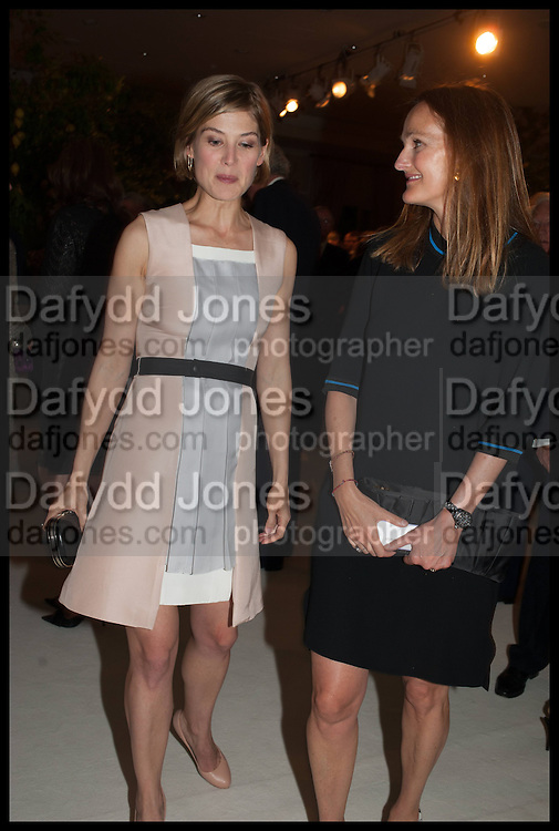 ROSAMUND PIKE; LADY CAWDOR, Cartier dinner in celebration of the Chelsea Flower Show. The Palm Court at the Hurlingham Club, London. 19 May 2014.