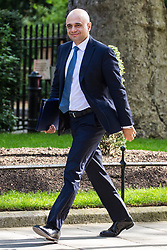 London, UK. 7 May, 2019. Sajid Javid MP, Secretary of State for the Home Department, arrives at 10 Downing Street for a Cabinet meeting.