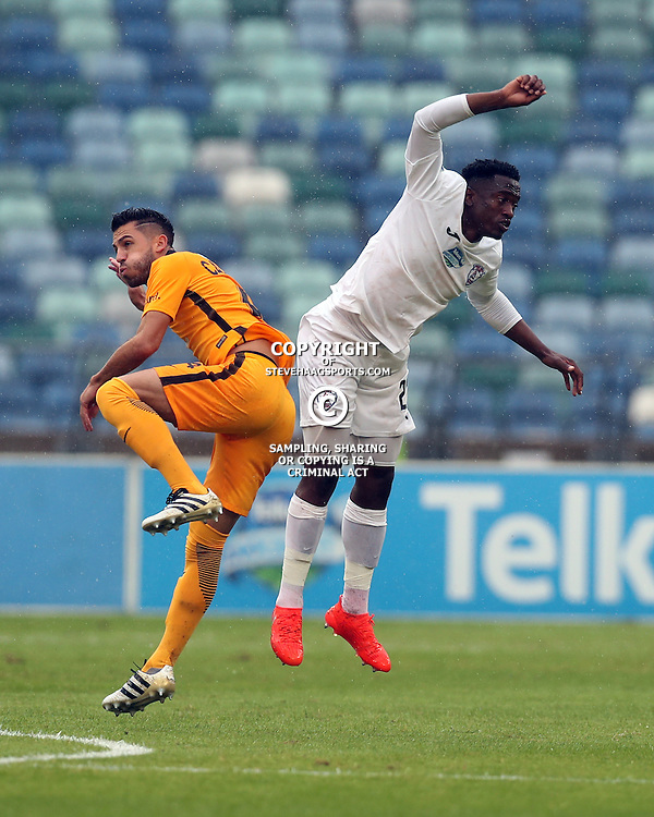 Daniel Cardoso of Kaizer Chiefs and Moeketsi Sekola of Free State Stars off the ball clash during the Telkom Knockout quarterfinal  match between Kaizer Chiefs and Free State Stars at the Moses Mabhida Stadium , Durban, South Africa.6 November 2016 - (Photo by Steve Haag Kaizer Chiefs)