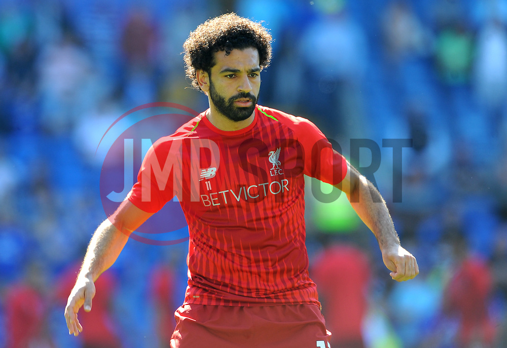 Mohamed Salah of Liverpool warms up- Mandatory by-line: Nizaam Jones/JMP - 21/04/2019 -  FOOTBALL - Cardiff City Stadium - Cardiff, Wales -  Cardiff City v Liverpool - Premier League