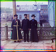 What Russian Empire Looked Like Before 1917… In Colour<br /> <br /> <br /> The Sergei Mikhailovich Prokudin-Gorskii Collection features colour photographic surveys of the vast Russian Empire made between ca. 1905 and 1915. Frequent subjects among the 2,607 distinct images include people, religious architecture, historic sites, industry and agriculture, public works construction, scenes along water and railway transportation routes, and views of villages and cities. An active photographer and scientist, Prokudin-Gorskii (1863-1944) undertook most of his ambitious colour documentary project from 1909 to 1915. <br /> <br /> Photo Shows; Three generations. A.P. Kalganov with son and granddaughter, who work in the shops of the Zlatoust arms plant. (1910)<br /> ©Library of Congress/Prokudin-Gorskii/Exclusivepix Media