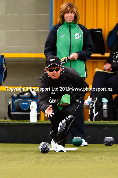 Val Smith (NZL) during the World Bowls Championships, Christchurch, New Zealand, 1st December 2016. © Copyright Photo: John Davidson / www.photosport.nz