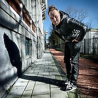 Nederland, Amsterdam , 2 februari 2013.<br /> Arjen Lubach  schrijver, cabaretier en televisiepresentator op het Zandpad.<br /> Foto:Jean-Pierre Jans