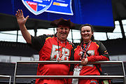 Tampa Bay fans during the International Series match between Tampa Bay Buccaneers and Carolina Panthers at Tottenham Hotspur Stadium, London, United Kingdom on 13 October 2019.