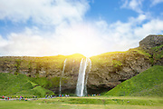 Seljalandsfoss waterfall in Scadinavian Iceland