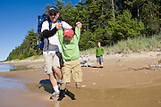 2010 Sauger, Maas and Scofield families camping trip in Michigan's Upper Peninsula.