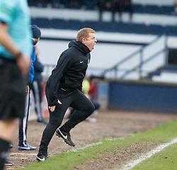 Hibernian's manager Neil Lennon. Raith Rovers 1 v 1 Hibernian, Scottish Championship game played 18/2/2017 at Starks Park.