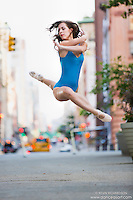 Streets of New York City Dance As Art Photography Project in Tribeca featuring dancer Lindsey Horrigan