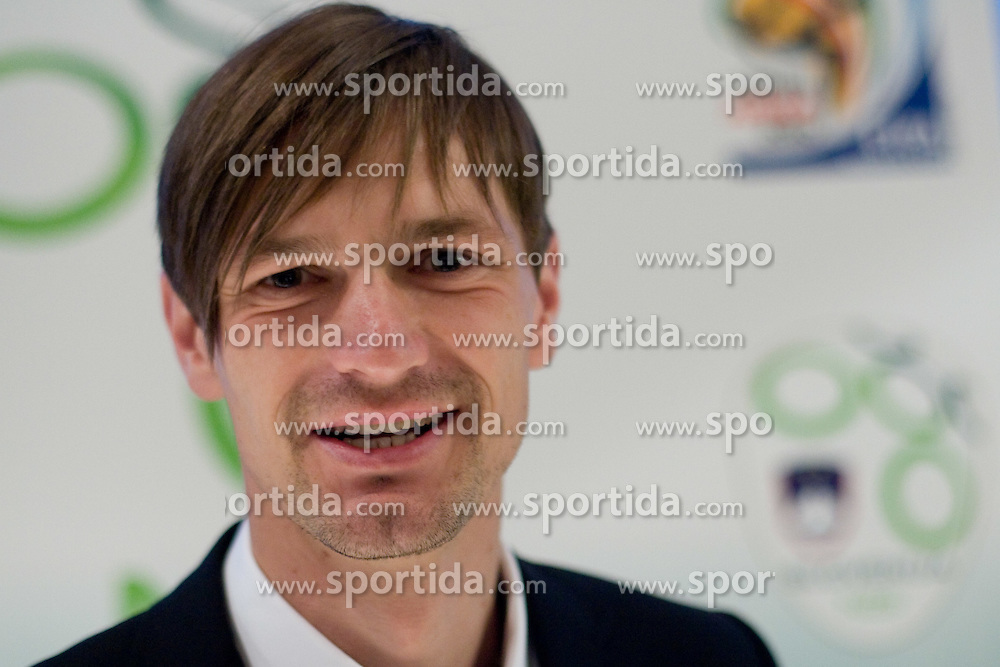 Milivoje Novakovic at official presentation of Slovenian National Football team for World Cup 2010 South Africa, on May 21, 2010 in Congress Center Brdo at Kranj, Slovenia. (Photo by Vid Ponikvar / Sportida)