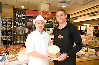 Connacht Rugby's Gavin Duffy, and Mark Spitzer, Joyce's Supermarket fresh Food manager at the opening of Horgan's Delicatessen Suppliers' first ever Food Emporium at Joyce's Supermarket, Knocknacarra, Co Galway.  The initiative marks Horgan's first Food Emporium Concept Store and cements a longstanding relationship with Joyce's Supermarket Group..Photo:Andrew Downes