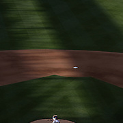 NEW YORK, NEW YORK - APRIL 30:  Pitcher Jacob deGrom #48 of the New York Mets pitching in the late afternoon sunshine at Citi Field during the New York Mets Vs San Francisco Giants MLB regular season game at Citi Field on April 30, 2016 in New York City. (Photo by Tim Clayton/Corbis via Getty Images)