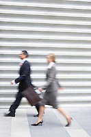 Businesspeople Walking Fast