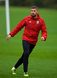 CARDIFF, WALES - Sunday, October 14, 2018: Wales' Kieron Freeman during a training session at the Vale Resort ahead of the UEFA Nations League Group Stage League B Group 4 match between Republic of Ireland and Wales. (Pic by David Rawcliffe/Propaganda)