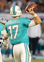 August 23rd, 2014, Miami Dolphins quarterback Ryan Tannehill (17) during a game between the Miami Dolphins and the Dallas Cowboys at Sun Life Stadium in Miami Garden, FL NFL American Football Herren USA AUG 23 Preseason - Cowboys at Dolphins PUBLICATIONxINxGERxSUIxAUTxHUNxRUSxSWExNORxONLY Icon140823035<br /> <br /> August 23rd 2014 Miami Dolphins Quarterback Ryan Fir Hill 17 during A Game between The Miami Dolphins and The Dallas Cowboys AT Sun Life Stage in Miami Garden Fl NFL American Football men USA Aug 23 Preseason Cowboys AT Dolphins PUBLICATIONxINxGERxSUIxAUTxHUNxRUSxSWExNORxONLY