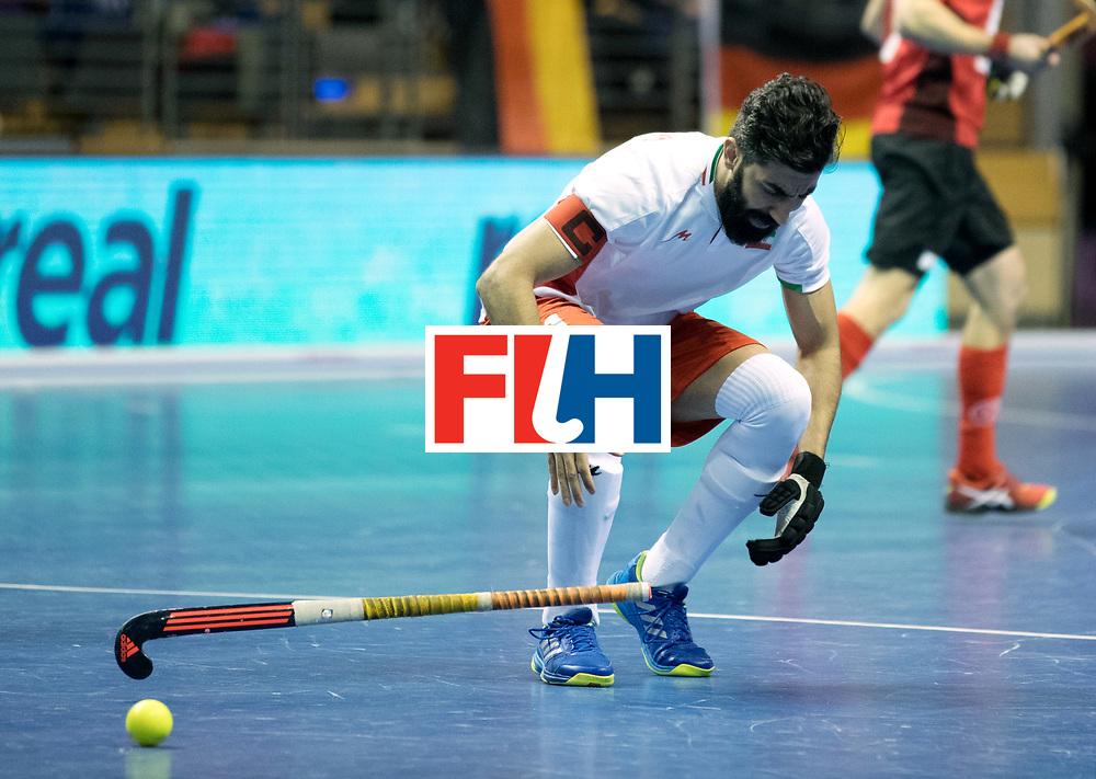 BERLIN - Indoor Hockey World Cup<br /> Men: Iran - Switzerland<br /> foto: BEIRANVAND Behdad.<br /> COPYRIGHT WILLEM VERNES