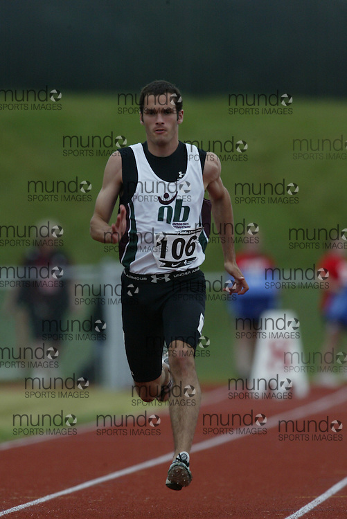 (Charlottetown, Prince Edward Island -- 20090714) Alexandre Doucet of Athl?tisme Chaleur competes in the  100m at the 2009 Canadian Junior Track & Field Championships at UPEI Alumni Canada Games Place on the campus of the University of Prince Edward Island, July 17-19, 2009.  Sean Burges / Mundo Sport Images ..Mundo Sport Images has been contracted by Athletics Canada to provide images to the media.