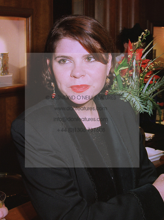 MISS IVANA LOWELL a member of the Guinness family, at a party in London on 4th December 1997.MEB 23