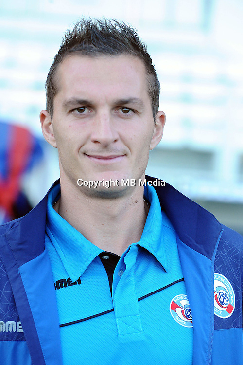 Dimitri LIENARD of Strasbourg during the Ligue 2 match between Clermont Foot and RC Strasbourg Alsace at Stade Gabriel Montpied on September 22, 2016 in Clermont-Ferrand, France. (Photo by Jean Paul Thomas/Icon Sport)