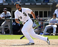 CHICAGO - JUNE 16:  Jose Abreu #79 of the Chicago White Sox bats against the Detroit Tigers on June 16, 2018 at Guaranteed Rate Field in Chicago, Illinois.  (Photo by Ron Vesely)  Subject: Jose Abreu
