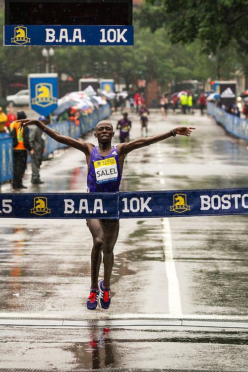 BAA 10K: winner Daniel Salel