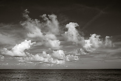 clouds over The Atlantic Ocean in Fort Lauderdale, Florida