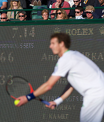 LONDON, ENGLAND - Wednesday, June 22, 2011: Andy Murray's mother, Judith (Judy) Murray, and girlfriend Kim Sears, look on during the Gentlemen's Singles 2nd Round match on day three of the Wimbledon Lawn Tennis Championships at the All England Lawn Tennis and Croquet Club. (Pic by David Rawcliffe/Propaganda)