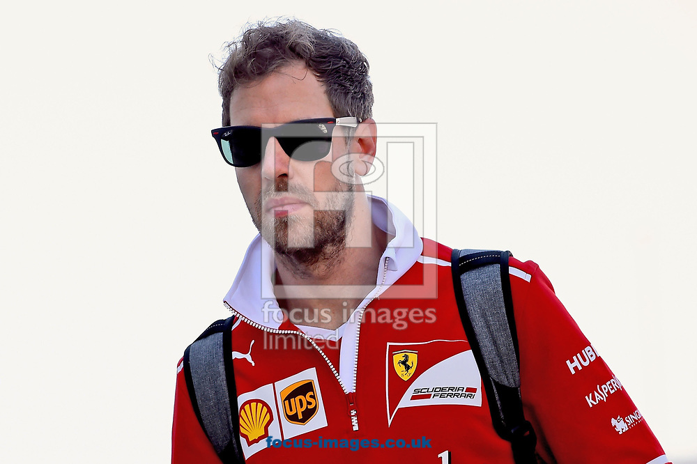 Sebastian Vettel of Scuderia Ferrari before coming second in the Russian Formula One Grand Prix at Sochi Autodrom, Sochi, Russia.<br /> Picture by EXPA Pictures/Focus Images Ltd 07814482222<br /> 30/04/2017<br /> *** UK & IRELAND ONLY ***<br /> <br /> EXPA-EIB-170430-0253.jpg