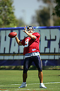 Quarterback Drew Brees during workouts at the San Diego Chargers summer training camp at the Home Depot National Training Center in Carson, CA on 08/04/2004. ©Paul Anthony Spinelli