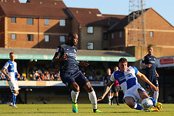 Tom Broadbent of Bristol Rovers clears the ball from Marc-Antoine Fortune of Southend United - Mandatory by-line: Richard Calver/JMP - 05/05/2018 - FOOTBALL - Roots Hall - Southend-on-Sea, England - Southend United v Bristol Rovers - Sky Bet League One