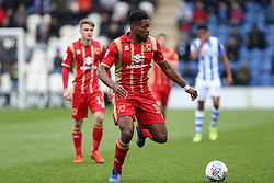 Chuks Aneke of Milton Keynes Dons on the ball - Mandatory by-line: Arron Gent/JMP - 27/04/2019 - FOOTBALL - JobServe Community Stadium - Colchester, England - Colchester United v Milton Keynes Dons - Sky Bet League Two