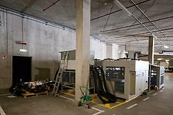 Freezing machines at preparing Ice in Arena Stozice for World Championship Div. I on April 10, 2012 at SRC Stozice, Ljubljana, Slovenia. (Photo By Matic Klansek Velej / Sportida.com)