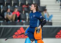 AMSTELVEEN -   keeper Karlijn Adank (Lar)    tijdens   de oefenwedstrijd tussen Amsterdam en Laren dames   COPYRIGHT KOEN SUYK
