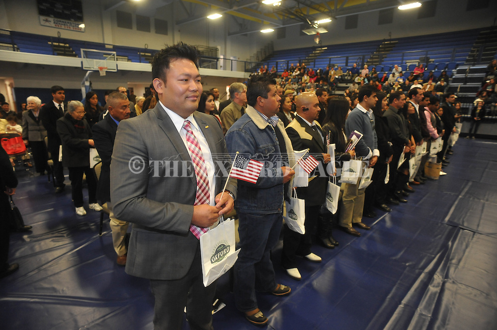 Sung Ra became U.S. citizen during a Naturalization Ceremony in U.S. District Court for the Northern District of Mississippi, at Oxford High School in Oxford, Miss. on Tuesday, November 18, 2014. The ceremony was the first the court has ever held at the school.