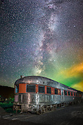 Cosmic Departure - I captured this majestic train with the Milky Way rising vertical above on my recent journey to the Catskills in New York State.