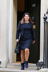 © Licensed to London News Pictures. 08/01/2019. London, UK. Caroline Nokes - Minister of State for Immigration departs from No 10 Downing Street after attending the weekly Cabinet Meeting. Photo credit: Dinendra Haria/LNP