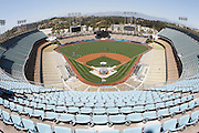 LOS ANGELES - MAY 30:  Wide angle, general view of Dodger Stadium before the game between the Colorado Rockies and the Los Angeles Dodgers on Monday, May 30, 2011 at Dodger Stadium in Los Angeles, California. The Dodgers won the game 7-1. (Photo by Paul Spinelli/MLB Photos via Getty Images)