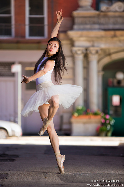 Streets of New York City Dance As Art Photography Project in Tribeca featuring dancer Shoko Fujita En Pointe