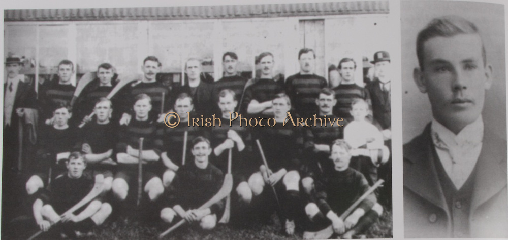 left: Laois (Ballygeehan) - All-Ireland Hurling Champions 1915. Back Row: Paddy Lee, Joe Carroll, Jim Deegan, J Loughman, Rev J Kearney CC, Paddy Ryan, Joe Dunphy, John Phelan, Paddy Campion, John Higgins. Middle Row: Joe Phelan, Tom Finlay, Jack Walsh, Jack Finlay (captain), Bob O'Keeffe, Ned McEvoy, Jim Carroll. Front Row: Jim  Hiney, Jack Daly and Jack Carroll..right: Mooncoin's Bob O'Keeffe was chairman of the Leinster Council and President of the GAA from 1935 to 1937. He helped organise hurling in Laois and won an All-Ireland medal as a player with Laois in 1915. Following his death in 1949, The Leinster Council purchased the O'Keeffe Cup for £700 for the Leinster Championship in his memory.