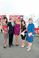 Mandy Maher Catwalk Models, PJ Gibbons ,  Rosanna Davison, Patrician McCrossan Galway Now and Bairbre Power judges in  the Anthony Ryan's Best Dressed ladies day at the Galway . Photo:Andrew Downes.Photo issued with Compliments, No reproduction fee on first use