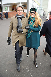 JERRY HALL and WARWICK HEMSLEY at the Hennessy Gold Cup 2010 at Newbury Racecourse, Berkshire on 27th November 2010.