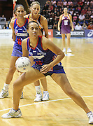 Jade Topia gets set to step up to take a shot for the Mystics during round 4 of the ANZ Netball Championship - Queensland Firebirds v Northern Mystics. Played at Brisbane Convention Centre. Firebirds (46) defeated the Mystics (40).  Photo: Warren Keir (SMP/Photosport).<br /> <br /> Use information: This image is intended for Editorial use only (e.g. news or commentary, print or electronic). Any commercial or promotional use requires additional clearance.