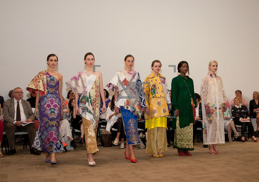 13.05.2016.           <br /> A model showcases designs by Jane Eglington titled 'Red City Serendipity' at the much anticipated Limerick School of Art & Design, LIT, (LSAD) Graduate Fashion Show on Thursday 12th May 2016. The show took place at the LSAD Gallery where 27 graduates from the largest fashion degree programme in Ireland showcased their creations. Ranked among the world's top 50 fashion colleges, Limerick School of Art and Design is continuing to mold future Irish designers. Picture: Alan Place. Picture: Alan Place