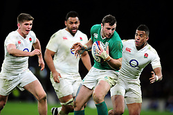Robbie Henshaw of Ireland in possession - Mandatory byline: Patrick Khachfe/JMP - 07966 386802 - 27/02/2016 - RUGBY UNION - Twickenham Stadium - London, England - England v Ireland - RBS Six Nations.