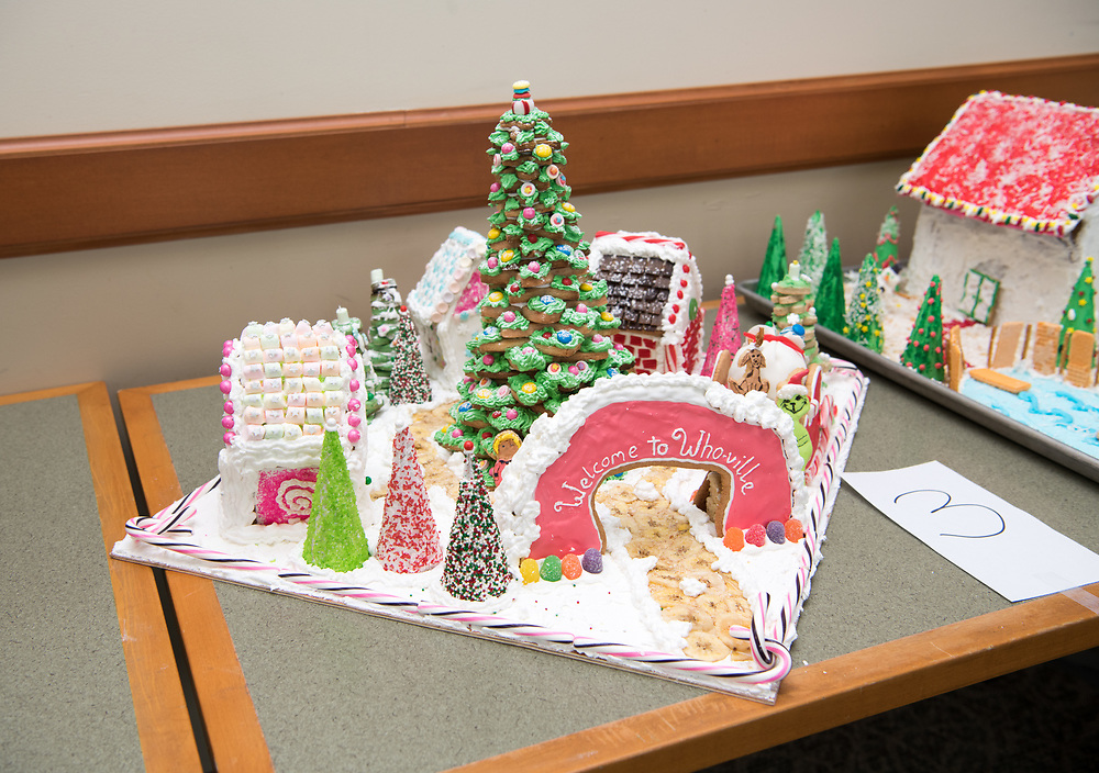 The Graduate College won second place overall for their entry into this year's gingerbread house decoration competition. Photo by Ben Siegel